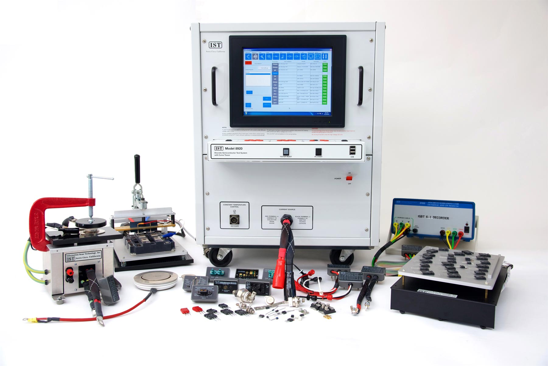 Semiconductor Test Equipment : Ist high powered semiconductor tester information